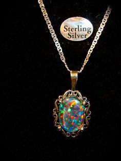 Opal Necklace.Fed Ex by xmas Large Genuine von AmyKJewels auf Etsy
