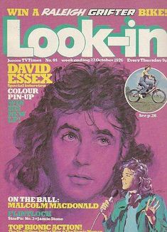 Look In Magazine Cover - Oct 1976 David Essex - This was the junior version of TV Times where we would find info on the stars of the day and read interviews from them, I used to feel very grown up when I started getting this every week in place of my Bunty comic '~)