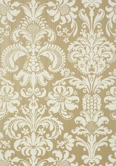 ASHLEY, Cream on Metallic Champagne, T89173, Collection Damask Resource 4 from Thibaut