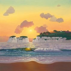 A signed limited edition canvas on board of 95 by contemporary landscape artist, Paul Corfield entitled Coastal View Contemporary Landscape, Landscape Art, Landscape Paintings, Photorealism, Art For Art Sake, Naive Art, Ocean Art, New Art, Art Gallery