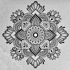 """Wikipedia best explains, """"A mandala is a spiritual and ritual symbol in Hinduism and Buddhism, representing the universe. In common use, """"mandala"""" has become a generic term for any diagram, chart or geometric pattern"""". """"Painting is Zentangle Patterns, Mandala Pattern, Zentangles, Mandala Doodle, Mandala Art Lesson, Mandala Sketch, Art Mandala, Mandalas Painting, Mandalas Drawing"""