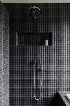 Inspiring Black Bathroom Shower Ideas For Small Bathroom Modern Shower, Modern Bathroom, Small Bathroom, Bathroom Ideas, Bathroom Taps, Bathroom Black, Shower Ideas, Basement Bathroom, Bathroom Remodeling