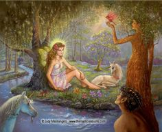 """Here is another peek at one of my paintings which will be in my new ebook """"Mystical Fairies"""". This painting is entitled FAIRY OF MYSTIC FOREST. It will be available September 6th at Smashwords.com. Preorders are available for Kobo and iBooks, and you can download a sample here: https://www.smashwords.com/books/view/460114"""