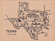 Lone Star State Map by Calsidyrose, via Flickr