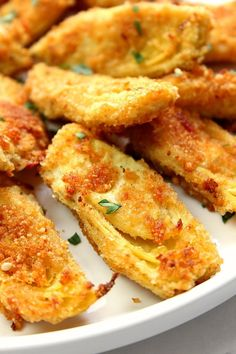 Baked Artichoke Hearts Recipe is part of Baked artichoke - Baked Artichoke Hearts Recipe delicious appetizer idea that couldn't be easier to make! Artichoke hearts dipped in garlicky butter and coated with Parmesan breadcrumbs Baked to crispy perfection! Vegetable Dishes, Vegetable Recipes, Vegetarian Recipes, Cooking Recipes, Healthy Recipes, Steak Recipes, Healthy Snacks, Vegetable Appetizers, Salmon Recipes