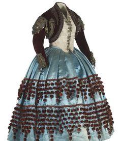 Maja or Goyesca upper-class dress of 19th century Madrid.