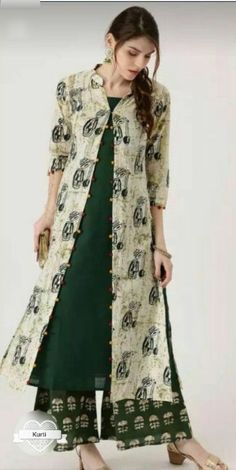Beautiful cotton jacket-kurti.