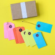 I've just found Medium Neon Luggage Tags. Add a finishing touch to your wrapping!. £2.95
