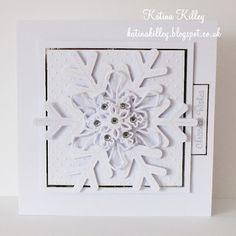 Elegant white snowflake card