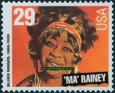 US Stamp 1994 - Blues Singer Ma Rainey  1886-1939