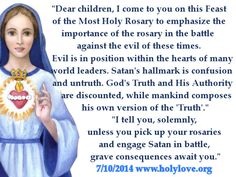 Urgent message from Our Lady about the Rosary from www.holylove.org