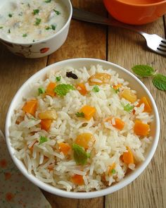 Carrot Pulao - a quick lightly spiced carrot pulao. It is easy to make, healthy and a delicious one pot meal.