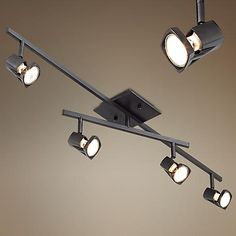 Pro Track® light fixture features a moveable bar and track heads to put light just where you need it.