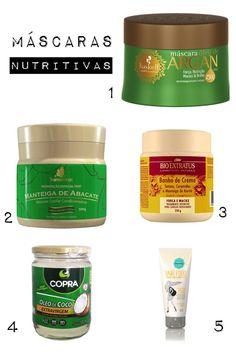Cronograma capilar: Produtos para a etapa de nutrição #cabelos #cuidados #dicas