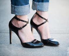 Zara Patent Black High Heels