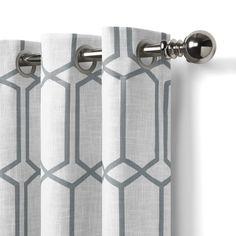 Kaiden Geometric Max Blackout Thermal Grommet Single Curtain Panel