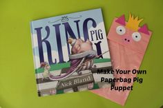 A simple craft for preschoolers to try - a paper bag pig puppet! Farm Animal Crafts, Farm Crafts, Preschool Crafts, Farm Animals, Picture Books, Book Activities, Puppets, Cartoons, King
