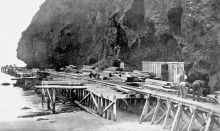 Whatipu wharf. 1916. JTD-06A-00181-2