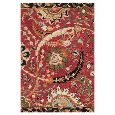 Anchor your living room seating group or define space in the den with this artfully hand-hooked wool rug, featuring a botanical motif for eye-catching appeal...
