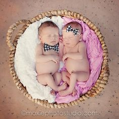 Cute idea for boy/girl twins