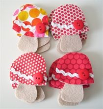 Show details for Mushrooms :: Fabric
