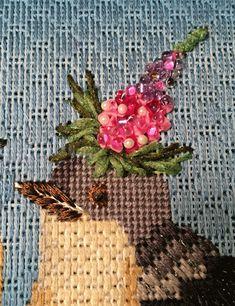 Baby Mockingbirds, Vicki Sawyer needlepoint canvas from Melissa Shirley