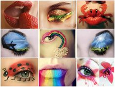 The coolest makeup ever. Nail art is so yesterday.