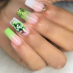 40 Latest Acrylic Nail Designs For summer 2019 Best Acrylic Nails, Acrylic Nail Designs, Nail Art Designs, Pedicure Colors, Manicure E Pedicure, Nail Art Hacks, Nail Swag, Hair And Nails, My Nails