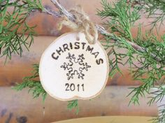 Christmas Ornament - Natural Birch Tree Branch Ornament  by GoRustic on ETSY