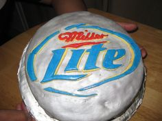 Hubby's Miller Lite cake for his 28th bday