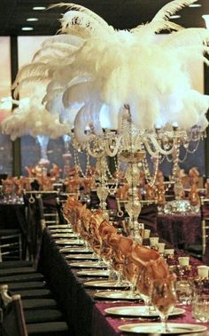 I got my party shoes on.: The Great Gatsby Party: Decorations The Great Gatsby, Great Gatsby Party, Great Gatsby Motto, Gatsby Themed Party, Speakeasy Party, Theme Parties, 1920s Party, Wedding Centerpieces, Wedding Table