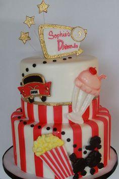 Drive In Movie Birthday Cake