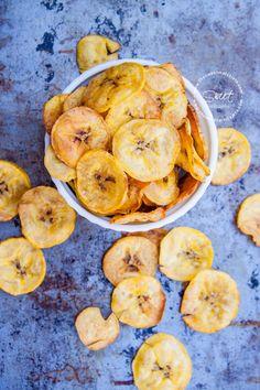 Receta para hacer unos crujientes y deliciosos Platanitos Deshidratados Saludables.