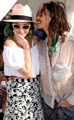 Katy Perry & Steven Tyler at Lacoste Pool Party