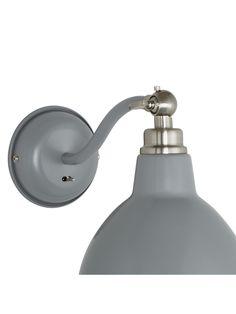 Buy John Lewis & Partners Aiden Wall Light, Grey from our Wall Lighting range at John Lewis & Partners. Bedding Master Bedroom, Grey Paint, Grey Walls, John Lewis, Wall Lights, Lighting, Modern, Stuff To Buy, Design