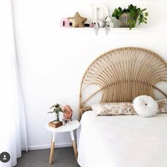 Basket Bed Head Bliss - image shared from Big Girl Bedrooms, Girls Bedroom, Interior Styling, Interior Design, Stay In Bed, Cozy Corner, New Room, Bohemian Decor, Room Decor