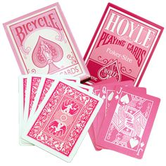 stylesight: Pink Bicycle Playing Cards so cute these playing cards!