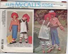 Raggedy Ann And Andy Rag Doll Childrens Halloween by Rosie247