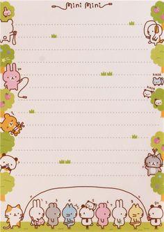 cute colorful bunny cat panda bear animal block Note Pad by Q-Lia 9