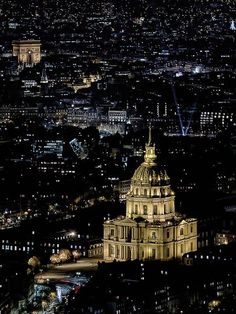 Les Invalides, Paris night