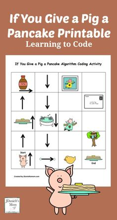 If You Give a Pig a Pancake Coding Printable - Children at home and students at . , If You Give a Pig a Pancake Coding Printable - Children at home and students at . If You Give a Pig a Pancake Coding Printable - Children at home an. Computer Coding, Computer Class, Computer Science, Gaming Computer, Early Learning, Kids Learning, Dash And Dot, Coding For Kids, Library Lessons