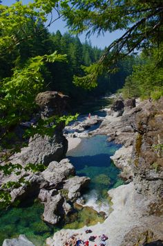Three Pools Opal Creek Oregon | three pools is a collection of gorgeous swimming holes in the Opal Creek Wilderness area *