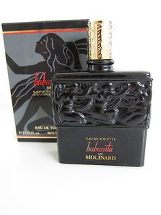 Habanita de Molinard EDT Lalique Black Glass Splash Bottle in Box Partial 99   eBay
