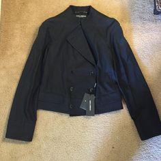 Dolce & Gabbana jacket stand collar double breast Dolce & Gabbana jacket stand collar double breast black size 44 Dolce & Gabbana Jackets & Coats