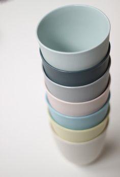 nesting bowl large porcelain citrus colour by urbancartel on Etsy