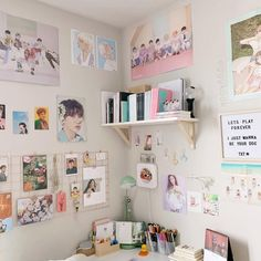 bts room diy bts room decor concepts for military cr to authentic proprietor Army Room Decor, Study Room Decor, Cute Room Decor, Decoration Bedroom, Room Decor Bedroom, Dorm Room, Bedroom Sets, Bedroom Furniture, Bedrooms