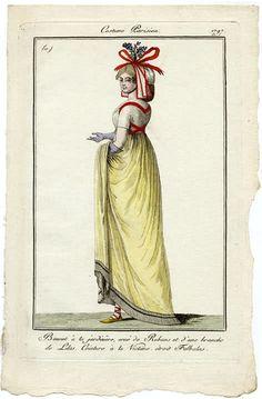 Journal des Dames et des Modes, 1797.  Big red bow!