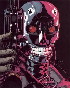 thebristolboard:  The Terminator by Paul Gulacy.