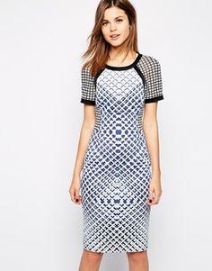 Karen Millen Bodycon Dress in Check Print