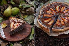 Маковый пирог с грушами